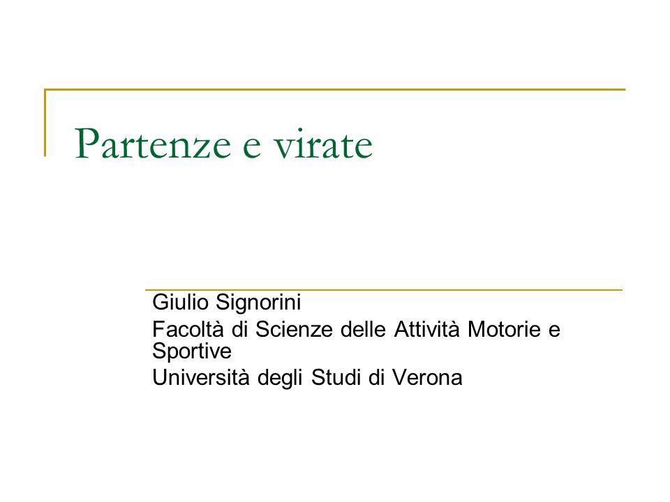 Partenze e virate Giulio Signorini