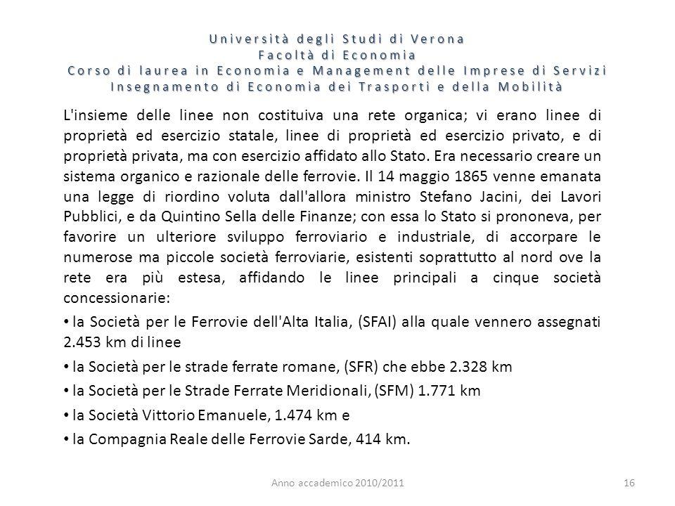 la Società per le strade ferrate romane, (SFR) che ebbe 2.328 km