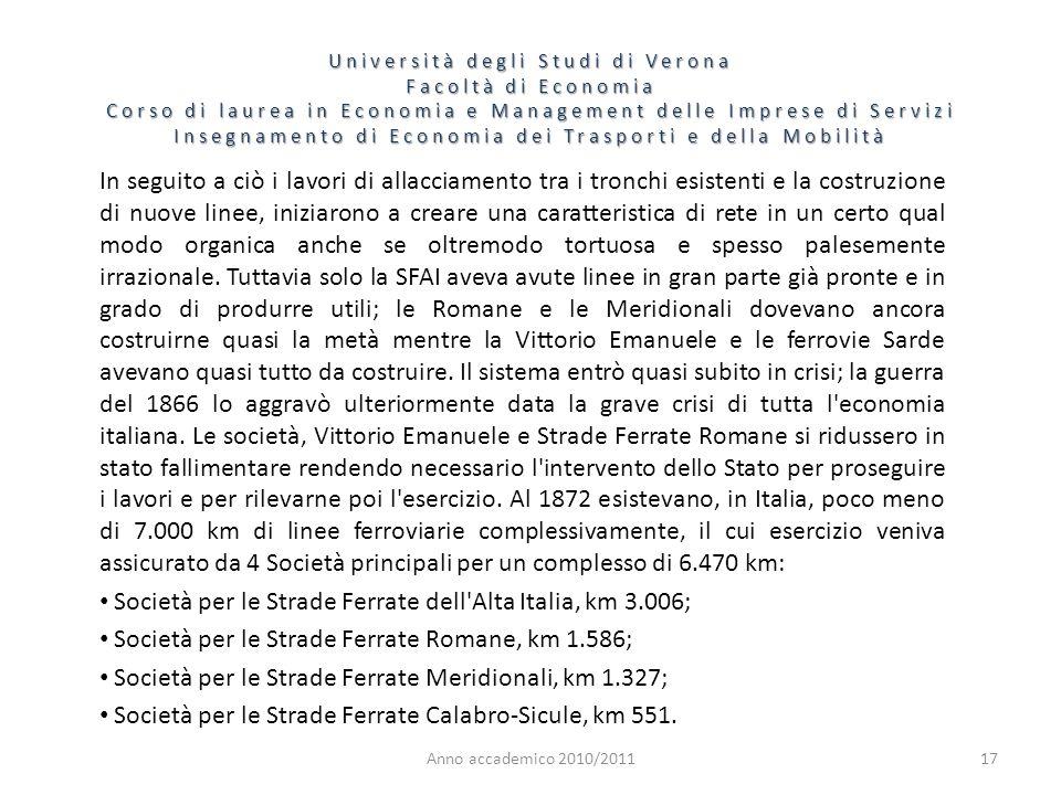 Società per le Strade Ferrate dell Alta Italia, km 3.006;