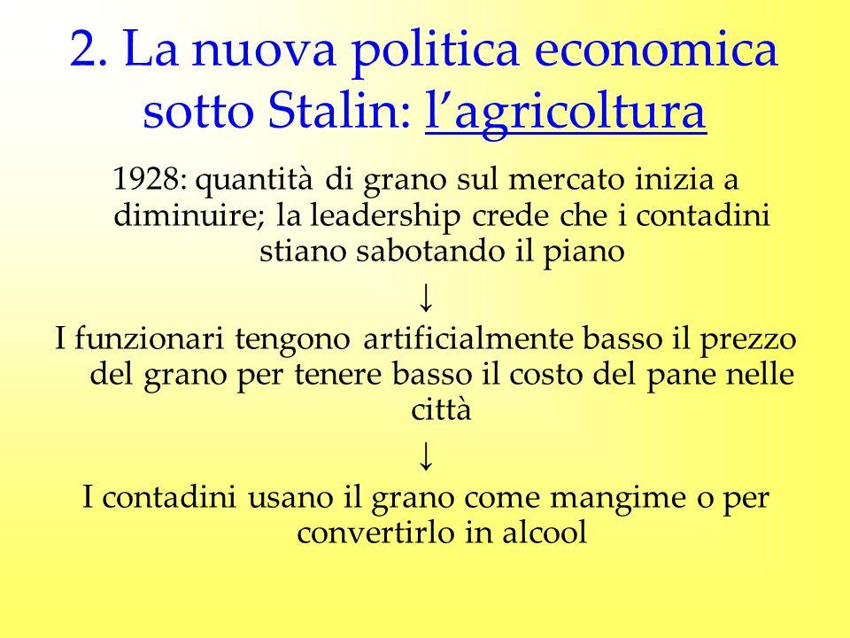 2. La nuova politica economica sotto Stalin: l'agricoltura