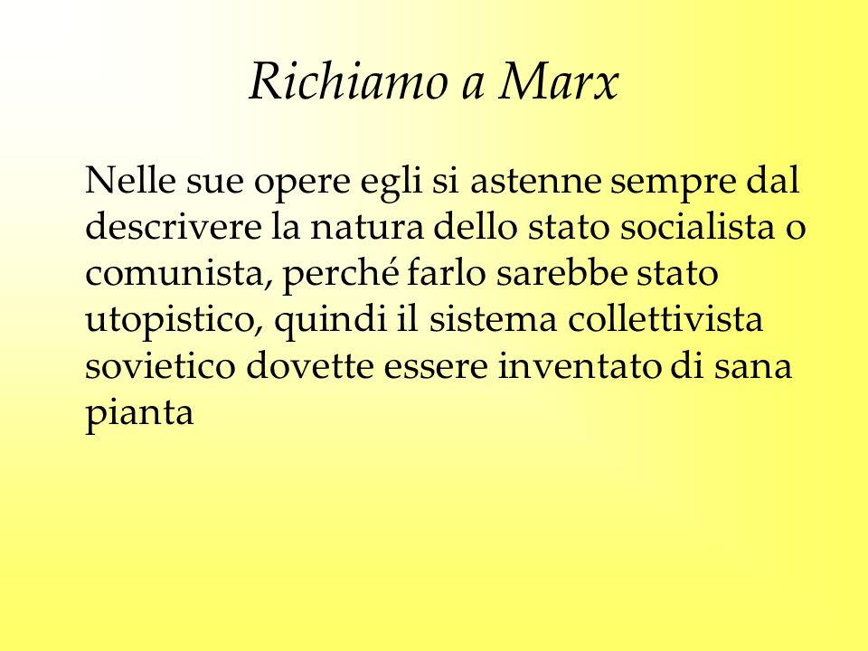 Richiamo a Marx