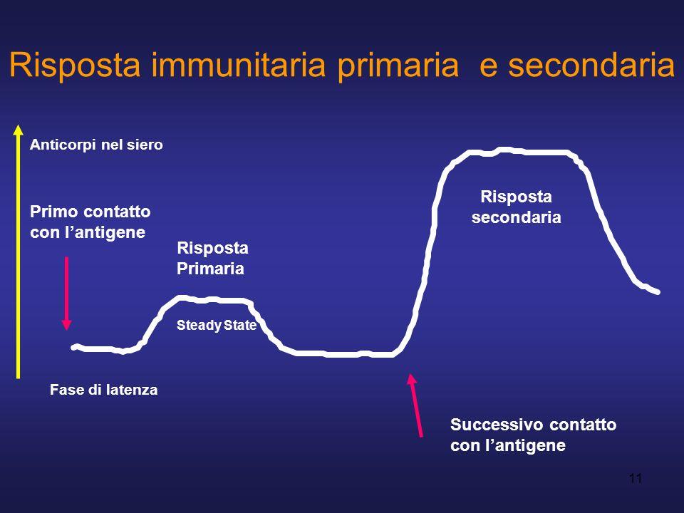 Risposta immunitaria primaria e secondaria