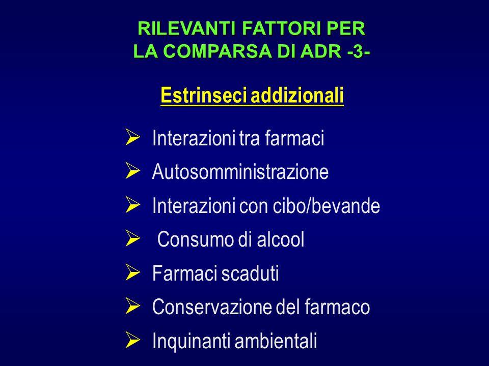 RILEVANTI FATTORI PER LA COMPARSA DI ADR -3-
