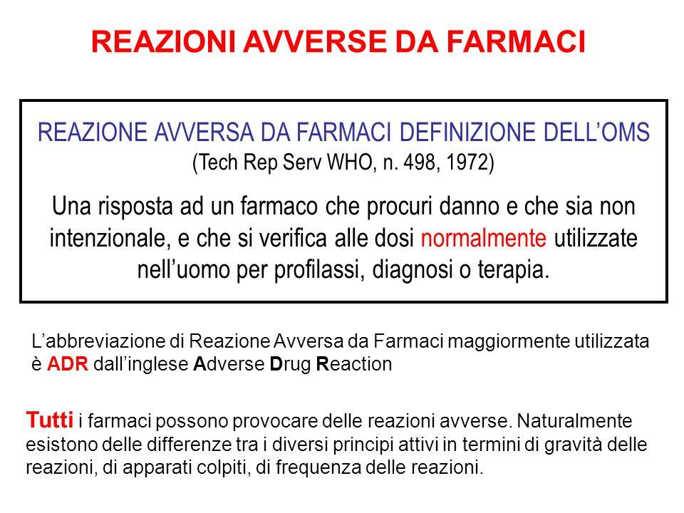 REAZIONI AVVERSE DA FARMACI