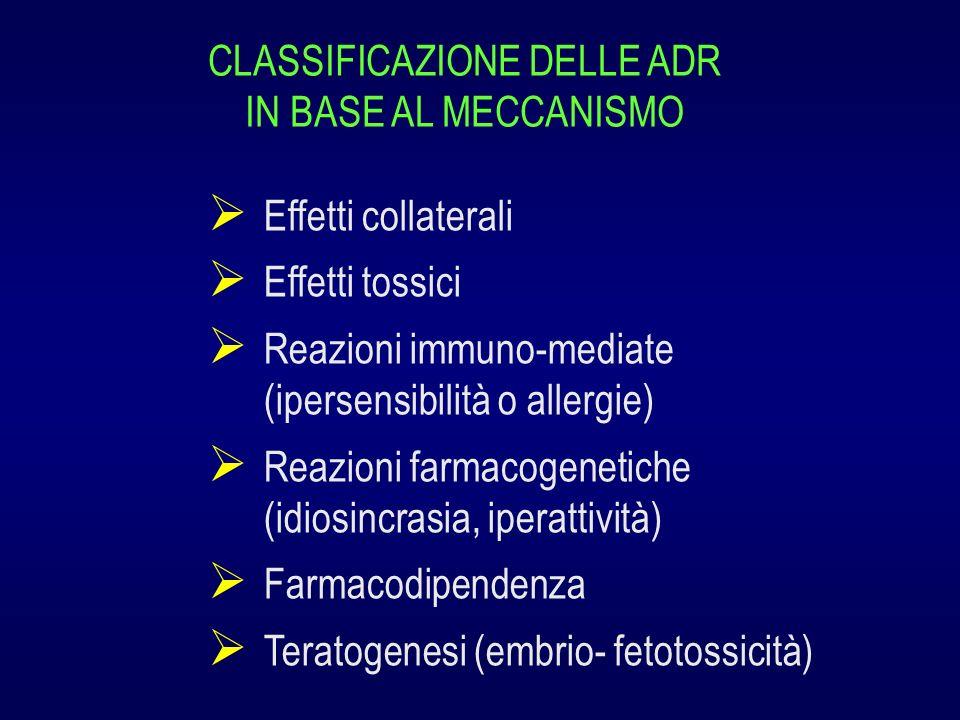 CLASSIFICAZIONE DELLE ADR IN BASE AL MECCANISMO