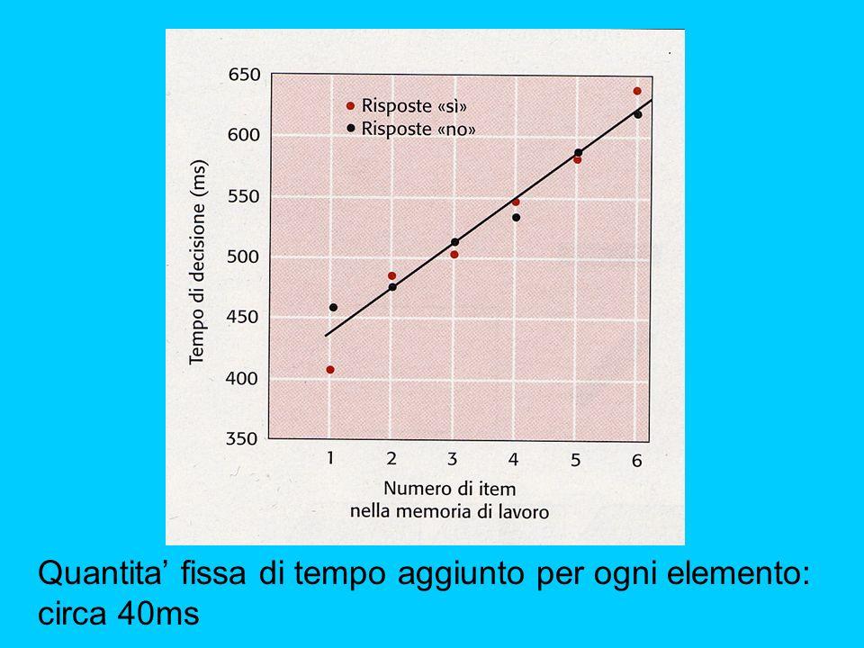 Quantita' fissa di tempo aggiunto per ogni elemento: circa 40ms