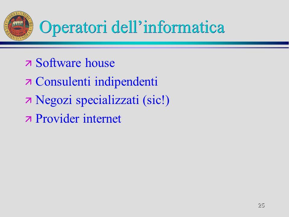 Operatori dell'informatica