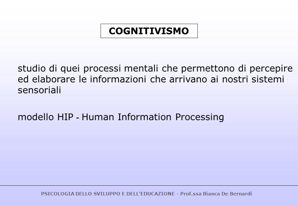 modello HIP - Human Information Processing
