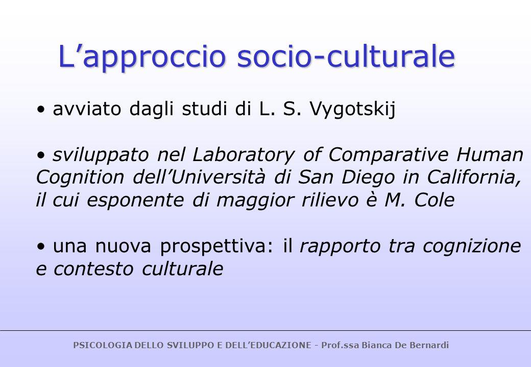 L'approccio socio-culturale