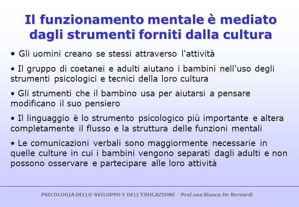 Il funzionamento mentale è mediato dagli strumenti forniti dalla cultura
