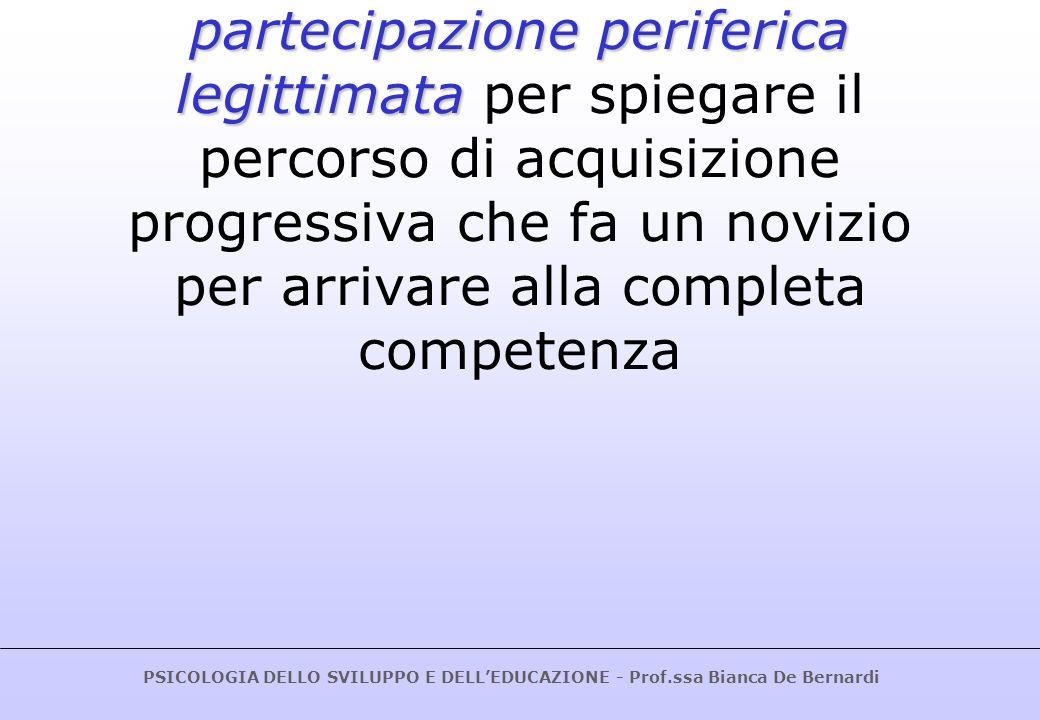 Lave e Wenger (1991) hanno affiancato il costrutto di partecipazione periferica legittimata per spiegare il percorso di acquisizione progressiva che fa un novizio per arrivare alla completa competenza