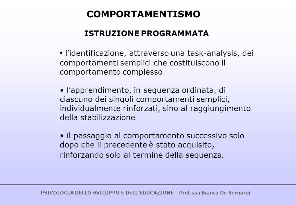 COMPORTAMENTISMOISTRUZIONE PROGRAMMATA.