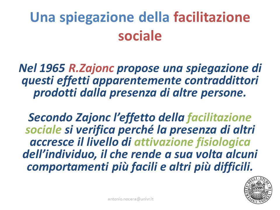 Una spiegazione della facilitazione sociale