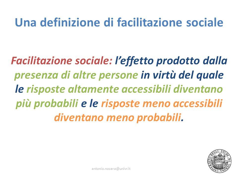 Una definizione di facilitazione sociale