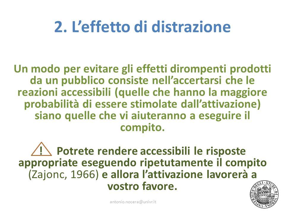 2. L'effetto di distrazione