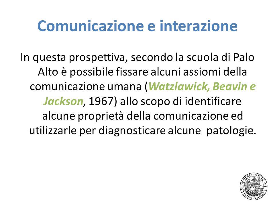 Comunicazione e interazione