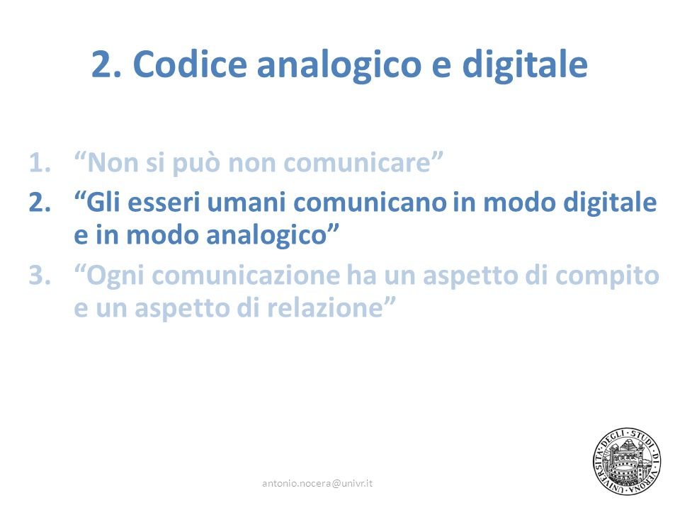2. Codice analogico e digitale