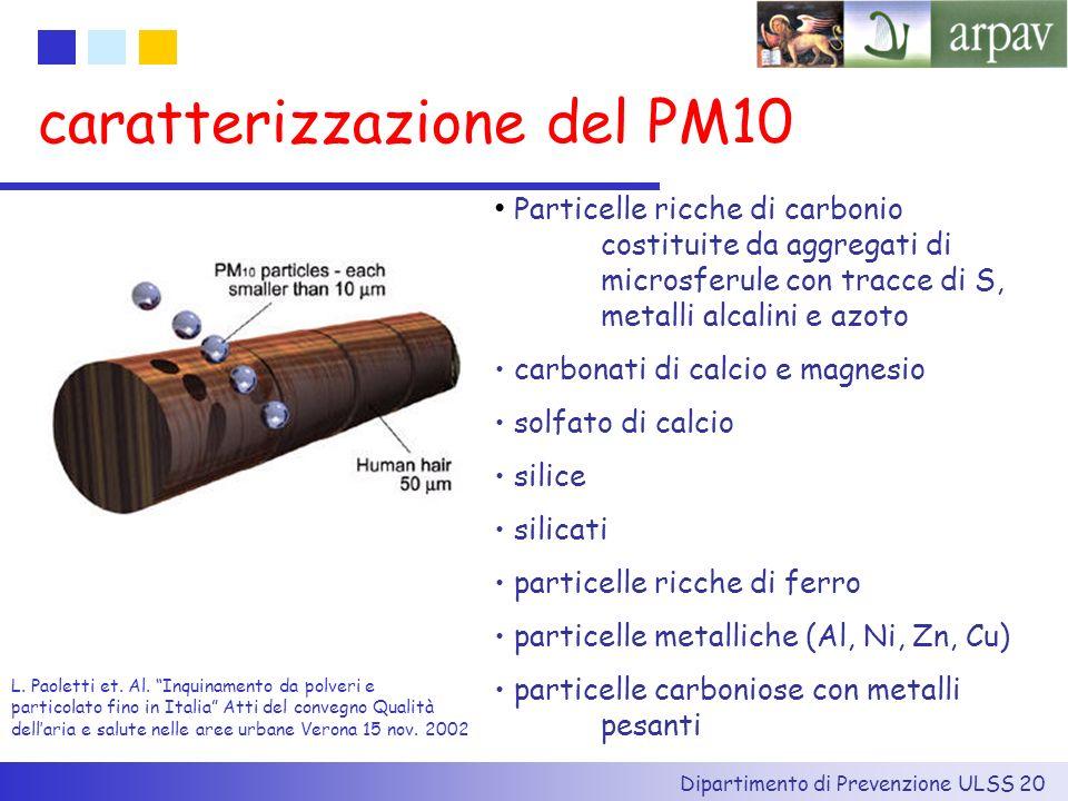 caratterizzazione del PM10