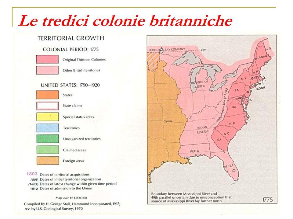 Le tredici colonie britanniche