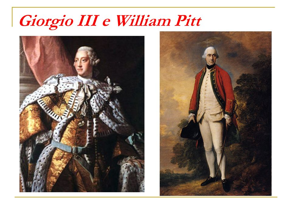 Giorgio III e William Pitt