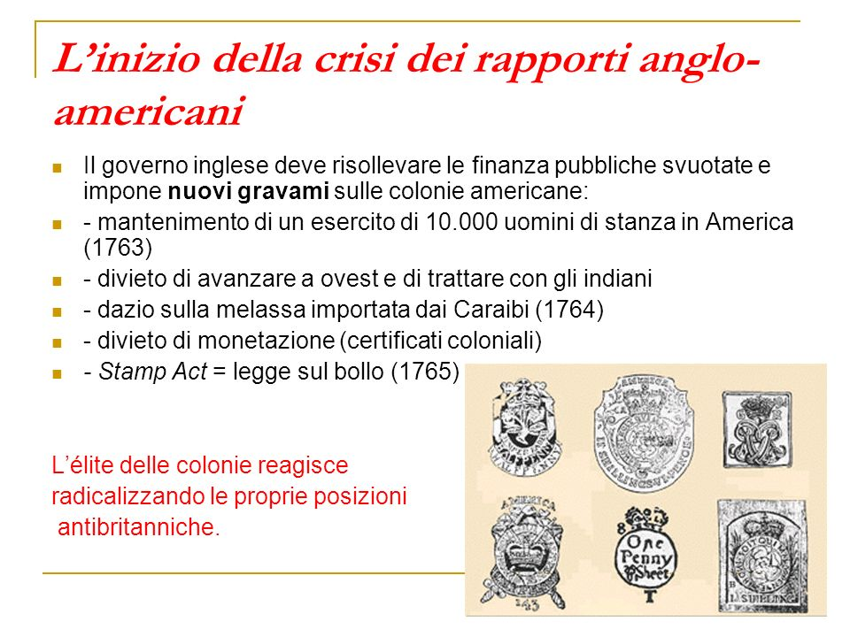 L'inizio della crisi dei rapporti anglo-americani