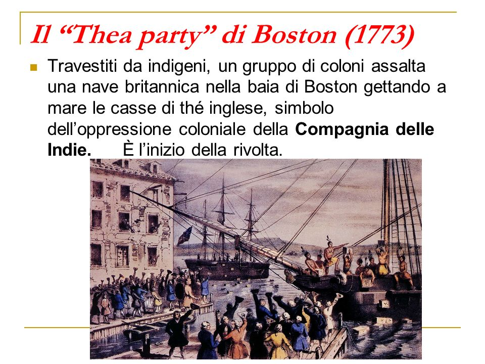 Il Thea party di Boston (1773)