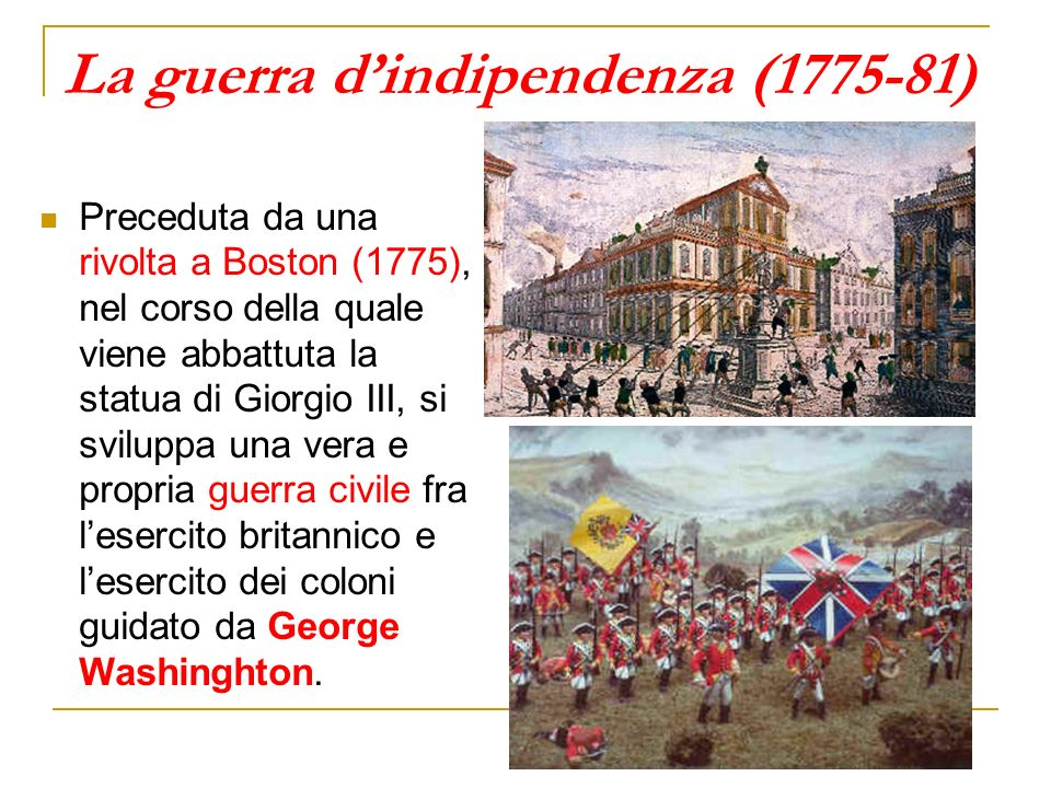 La guerra d'indipendenza (1775-81)