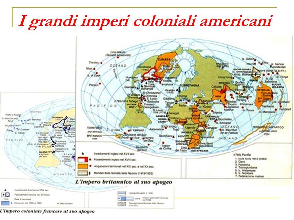 I grandi imperi coloniali americani