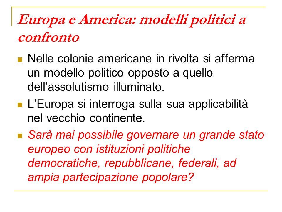Europa e America: modelli politici a confronto