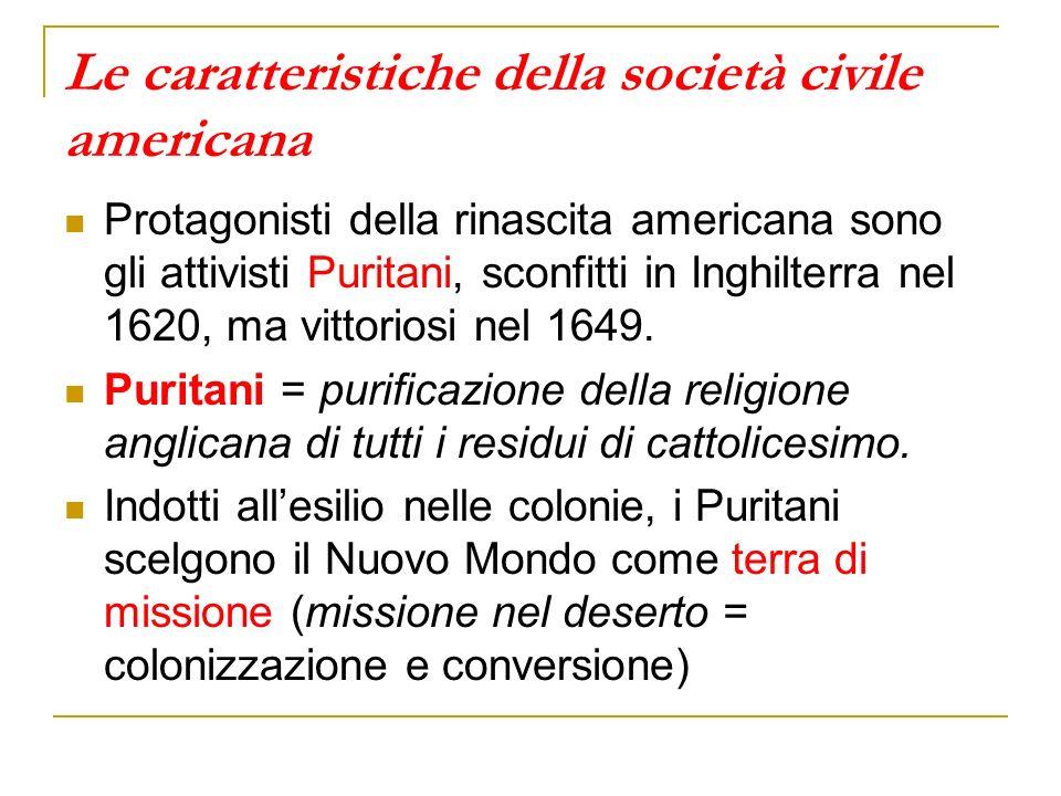 Le caratteristiche della società civile americana