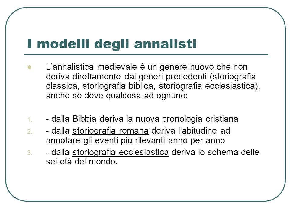 I modelli degli annalisti