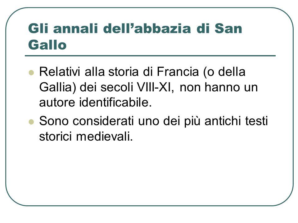 Gli annali dell'abbazia di San Gallo