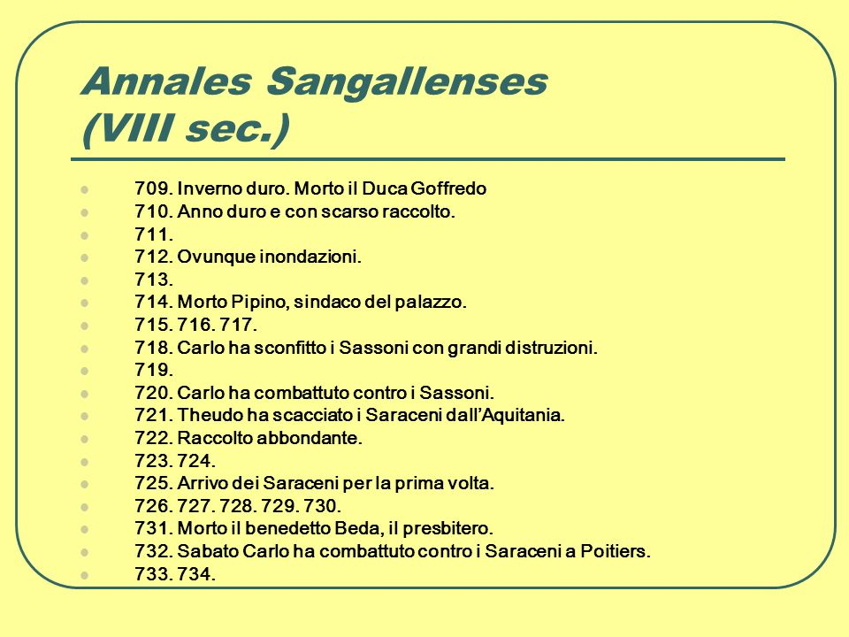 Annales Sangallenses (VIII sec.)
