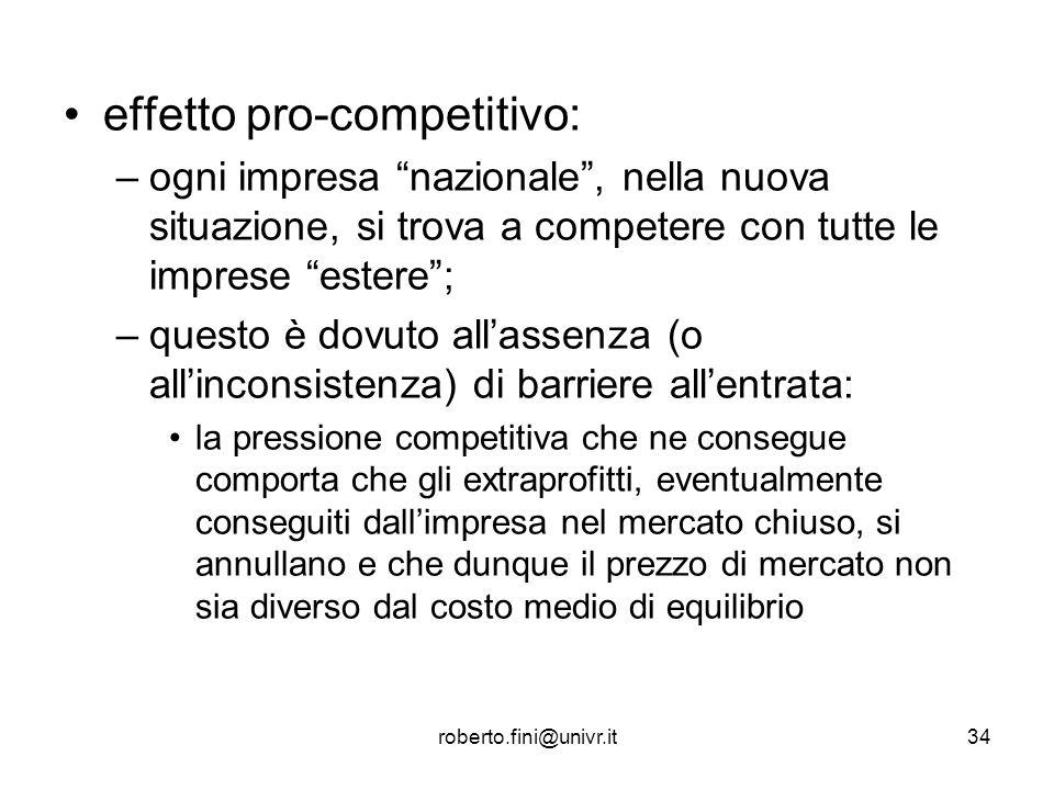 effetto pro-competitivo: