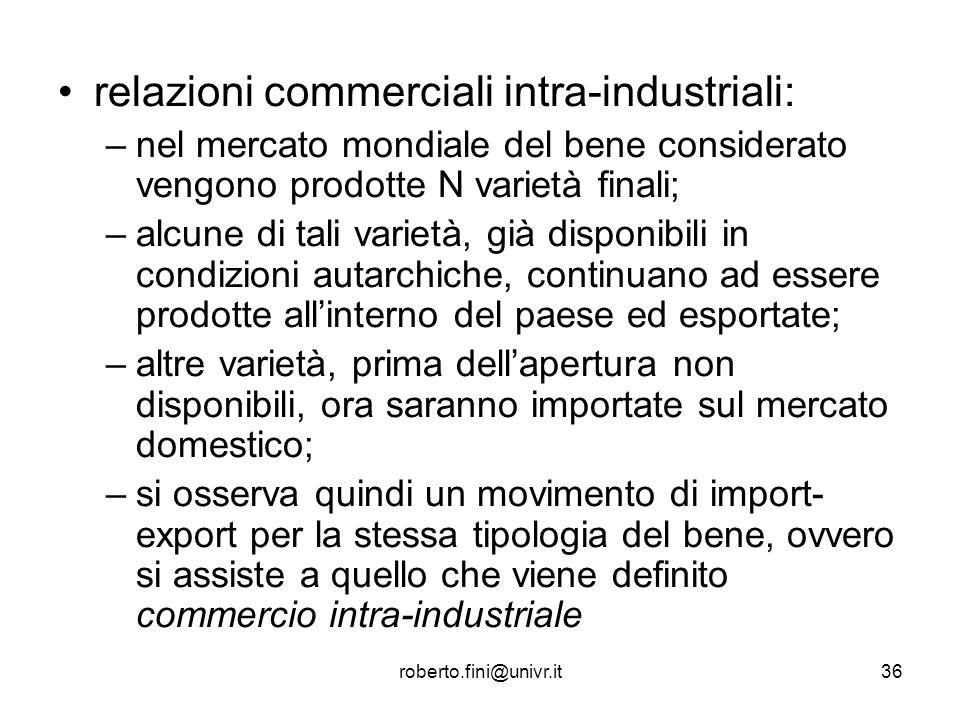 relazioni commerciali intra-industriali: