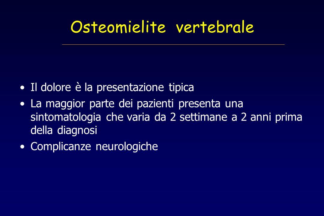 Osteomielite vertebrale