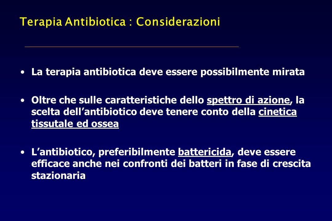 Terapia Antibiotica : Considerazioni