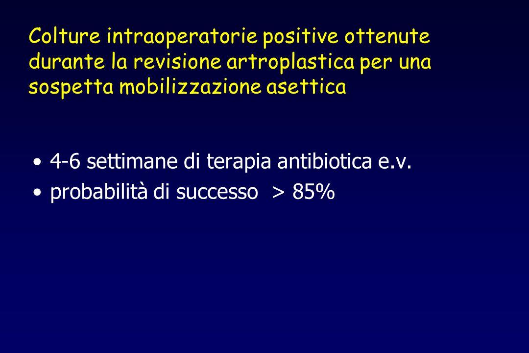 Colture intraoperatorie positive ottenute durante la revisione artroplastica per una sospetta mobilizzazione asettica