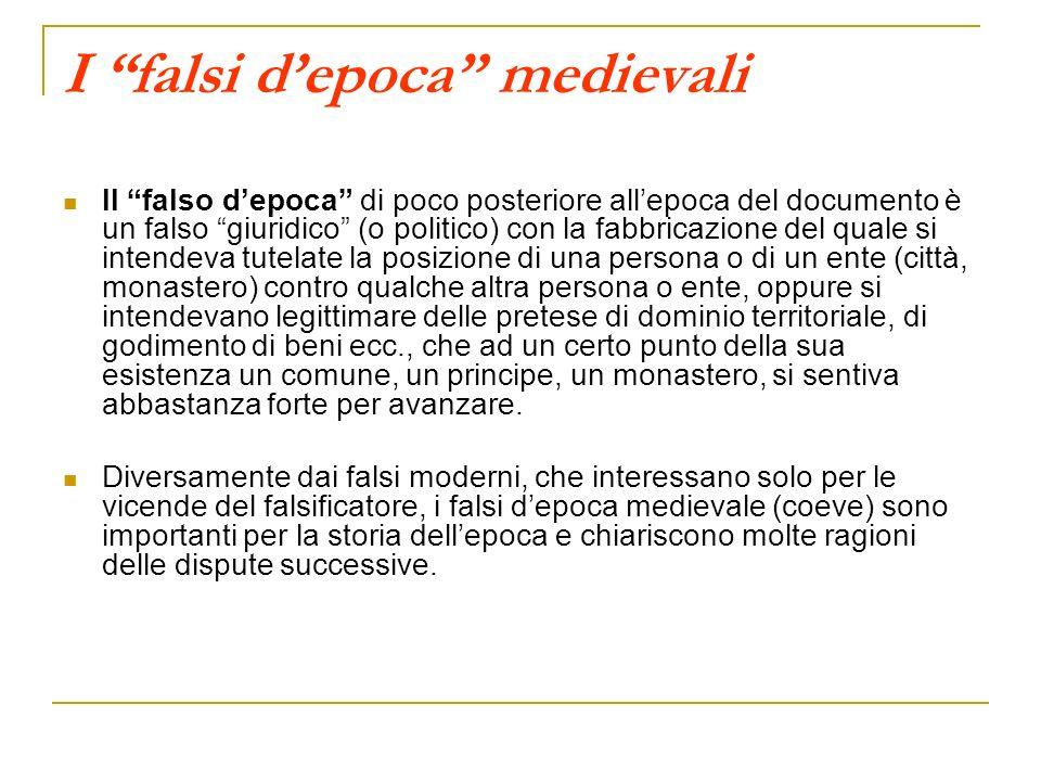 I falsi d'epoca medievali
