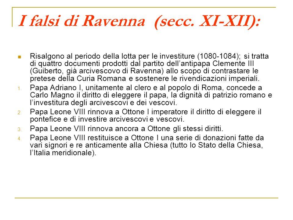 I falsi di Ravenna (secc. XI-XII):
