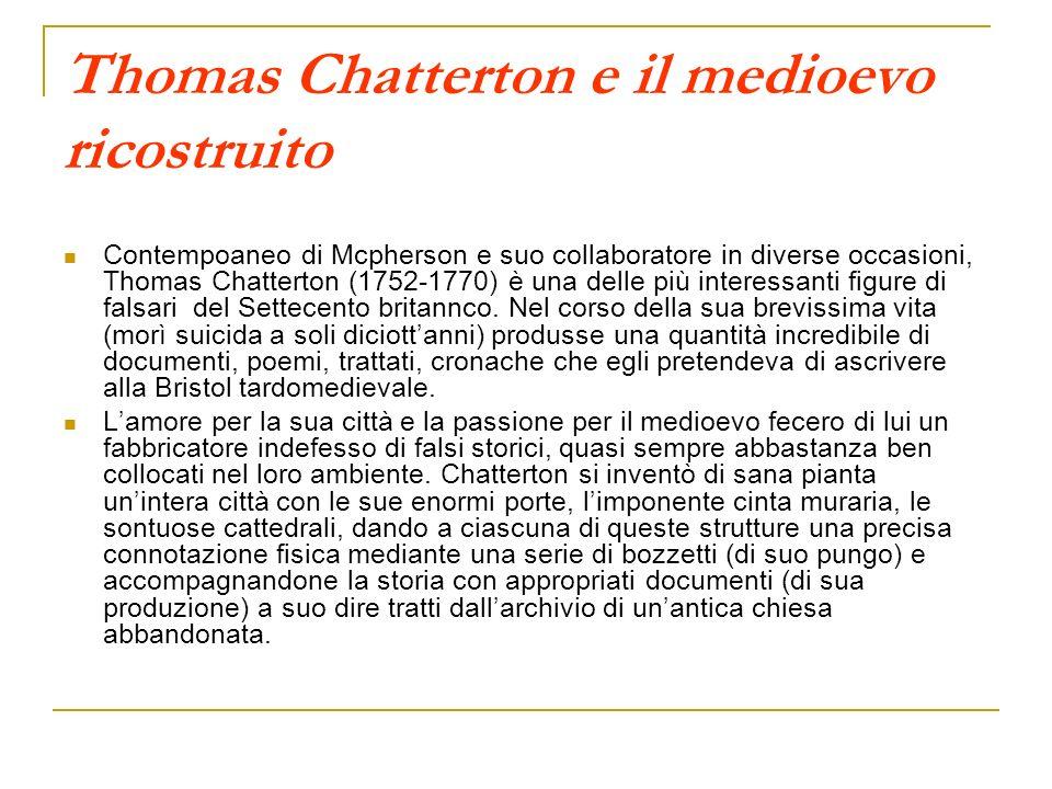 Thomas Chatterton e il medioevo ricostruito