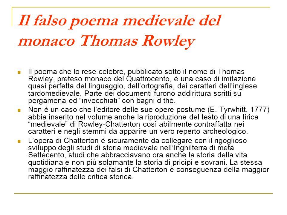 Il falso poema medievale del monaco Thomas Rowley