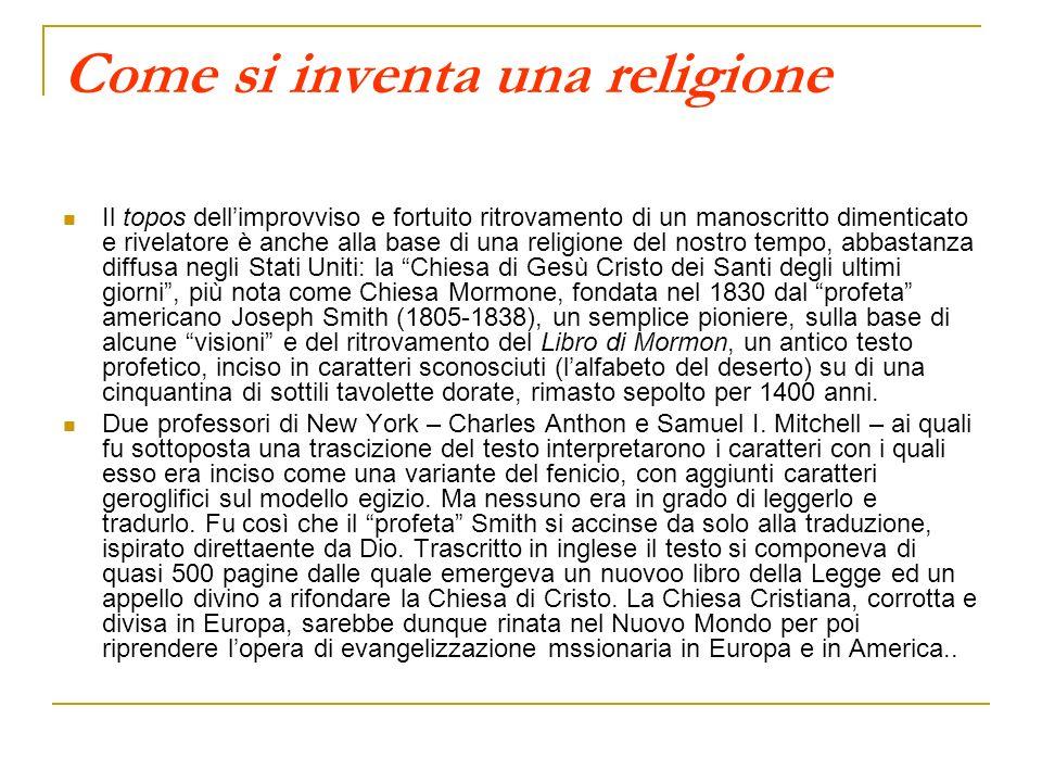 Come si inventa una religione
