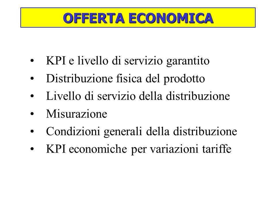 OFFERTA ECONOMICA KPI e livello di servizio garantito