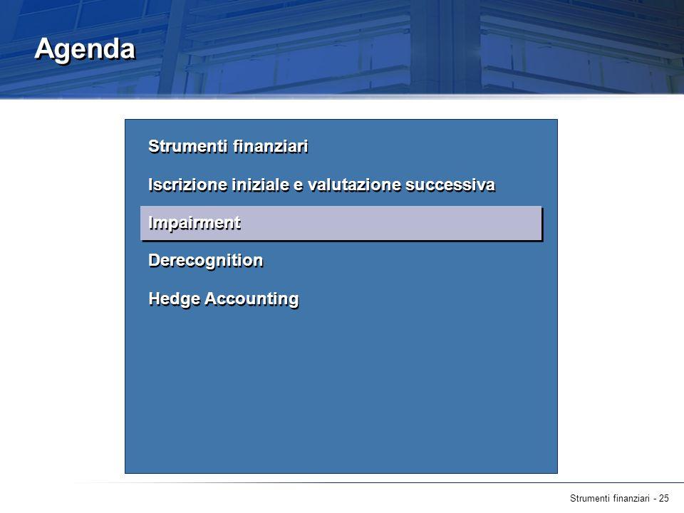 Agenda Strumenti finanziari