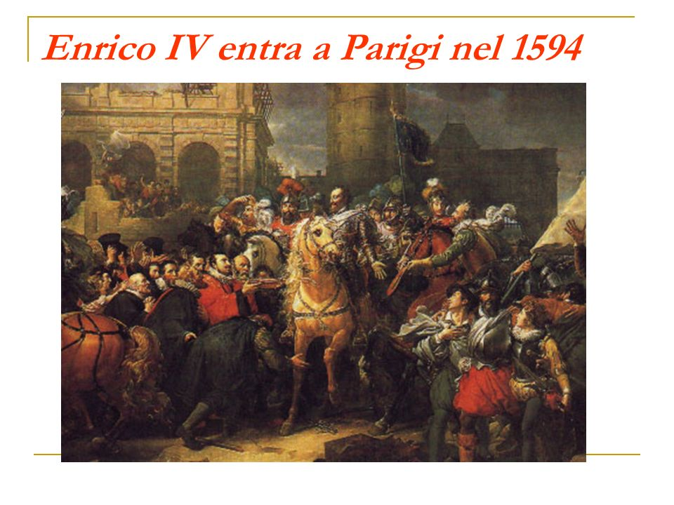 Enrico IV entra a Parigi nel 1594