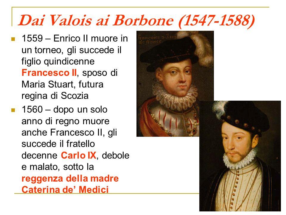 Dai Valois ai Borbone (1547-1588)