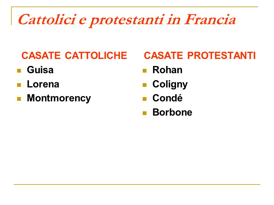 Cattolici e protestanti in Francia