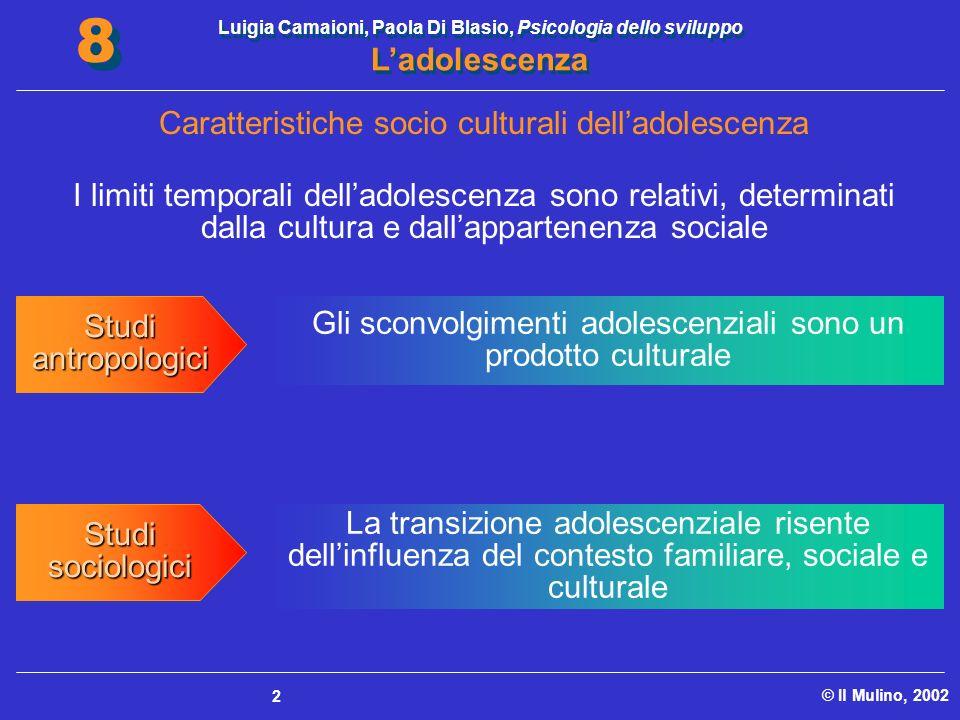 Caratteristiche socio culturali dell'adolescenza