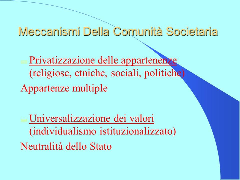Meccanismi Della Comunità Societaria
